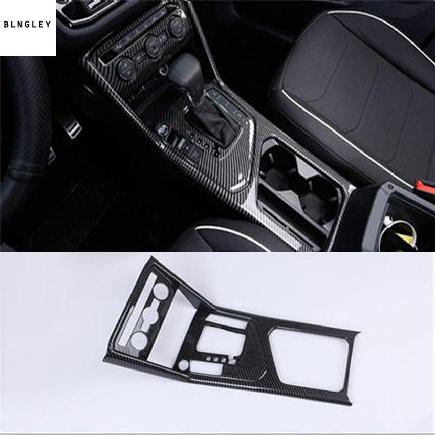 1pc ABS carbon fiber grain Central control gear panel decoration for 2017 2018 Volkswagen VW Tiguan