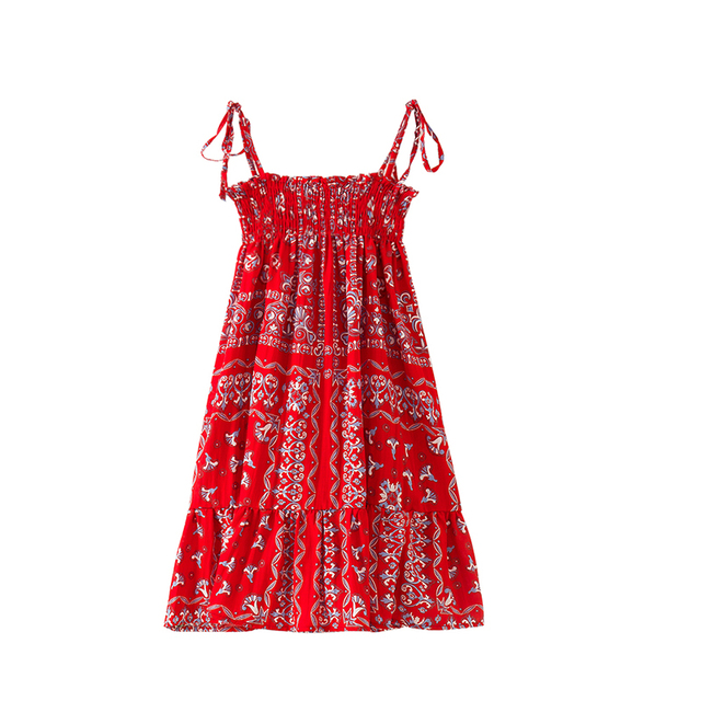 7f8eda55030e4 girl summer clothes 2018 new dresses with shoulder straps baby red /blue  knee length sleeveless beach dress-in Dresses from Mother & Kids on ...