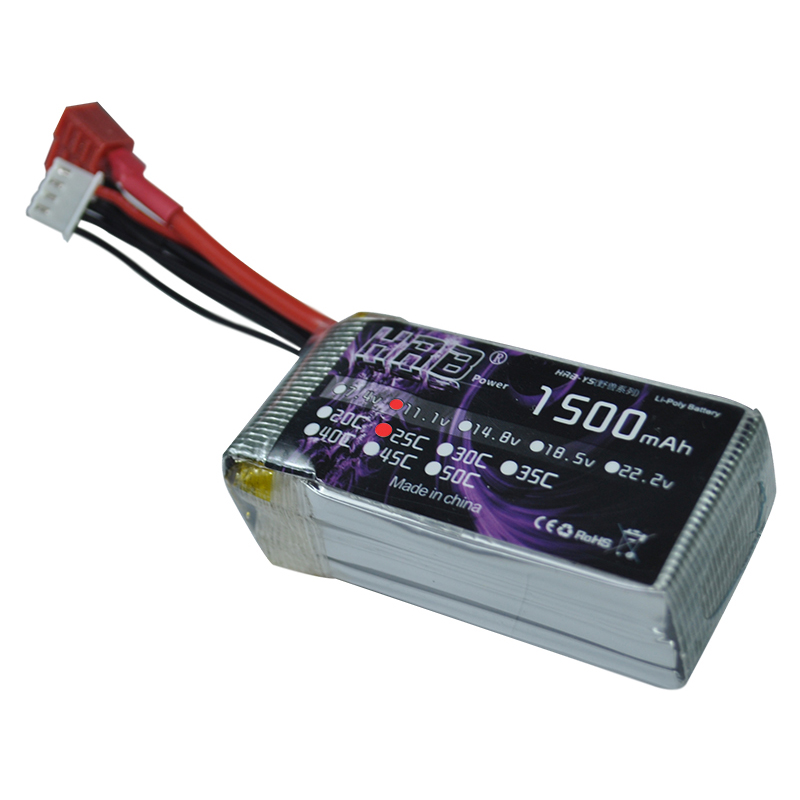 HRB RC Lipo Battery 3s 11.1V 1500mah Wire On One Side 25C MAX 50C Drone AKKU For RC Helicopter Airplane Truck Car Boat 1meter red 1meter black color silicon wire 10awg 12awg 14awg 16 awg flexible silicone wire for rc lipo battery connect cable
