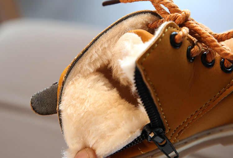 2019 1 Tot 4 Jaar Oud Winter Snowboots Baby Jongens En Meisjes Mode Korte Laarzen Pluche Warm Houden Katoen schoenen Soft Sport Schoenen