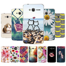 3D DIY Case For Alcatel OneTouch Pixi 4 Painted Cover Pixi4 5.0 4.0 inch Back Fundas Coque