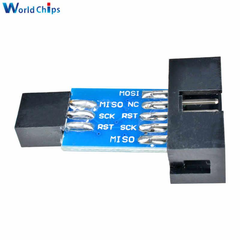 10 دبوس تحويل إلى معيار 6 دبوس محول مع 5 فولت USBASP ISP AVR مبرمج حافظة