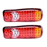 1PCS 12V 24V 46 LEDs Taillights Trailer Truck Stop Rear Tail Light Auto Car Signal Lamp