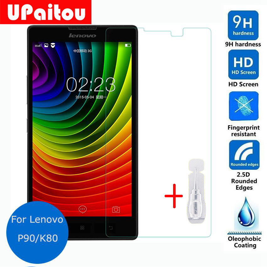 UPaitou Glass For Lenovo P90 Tempered glass Screen Protector Safety Protective Glass Film on P 90 / K80 / K80m Dual Sim Lte