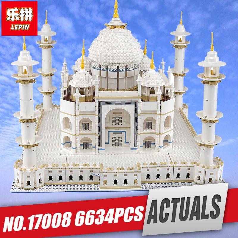 цена на LEPIN 17008 17002 17011 The taj mahal Model Educational Building Kits Blocks Bricks Compatible Legoings 10189 Toy Children Gift