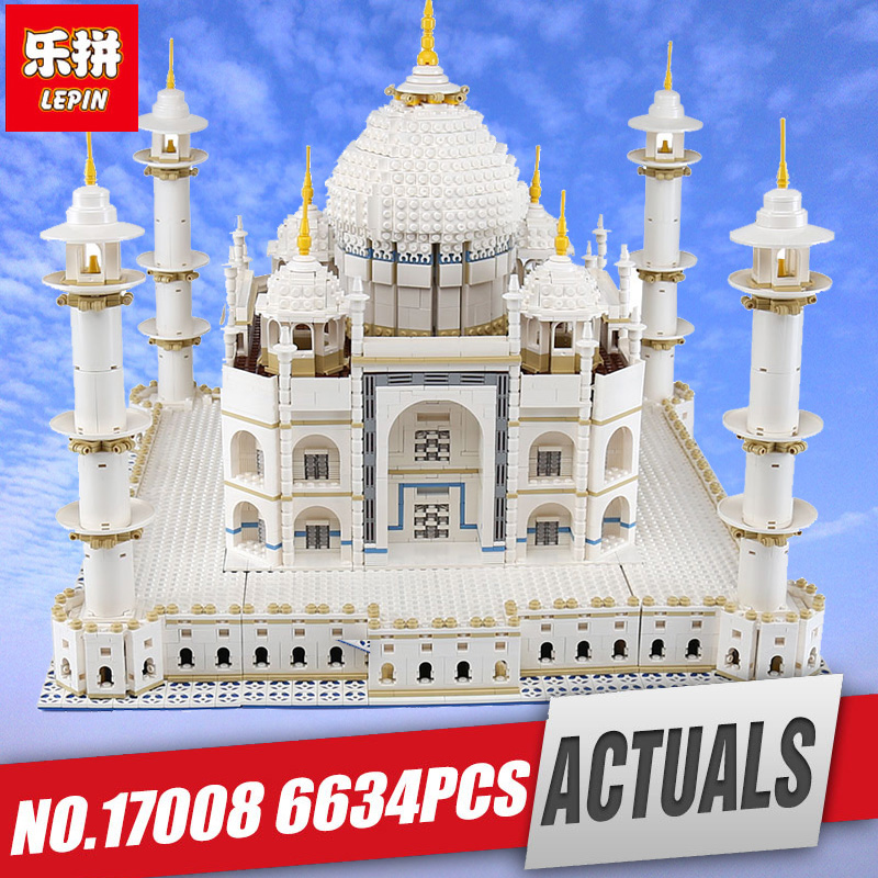 LEPIN 17008 The taj mahal Model Educational Building Kits Blocks Bricks Compatible With legoing 10189 Toy as Children Gift 17001 new lepin 16009 1151pcs queen anne s revenge pirates of the caribbean building blocks set compatible legoed with 4195 children