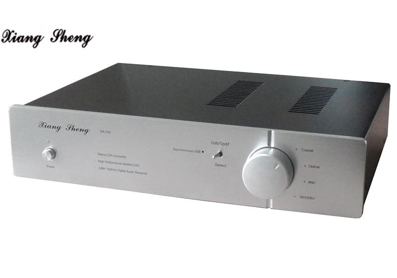 Hifi decodificador ak4497 DA-05 AK4495 * 2 XMOS-XU208 dsd dac decodificador de áudio coaxial fibra de prata preto Duplo ak4497