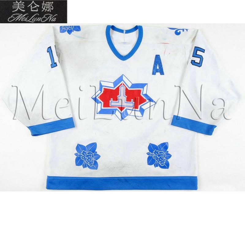 MeiLunNa Custom AHL Halifax Citadels Hockey Jerseys Mark Vermette 15 Greg Smyth 30 Francois Gravel Home Road Sewn Any Name NO. no name 65см 15 113р