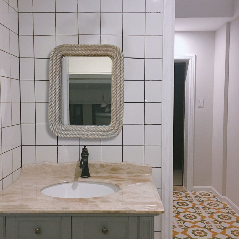 Swell Us 288 0 44Cmx55Cm Hanging Bathroom Mirror Retro Old American Style Country Bathroom Wall Decorative Mirror For Living Room In Bath Mirrors From Download Free Architecture Designs Scobabritishbridgeorg