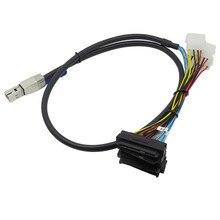 Mini sas SFF 8644 para 4 * SFF 8482 servidor externo cabo de extensão de dados