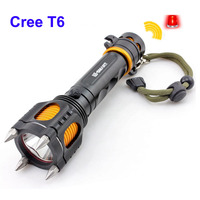 Defensive Cree Xml T6 Led Flashlight Powerful Multi Function Flash Torch Light Police Tactical Led Linterna
