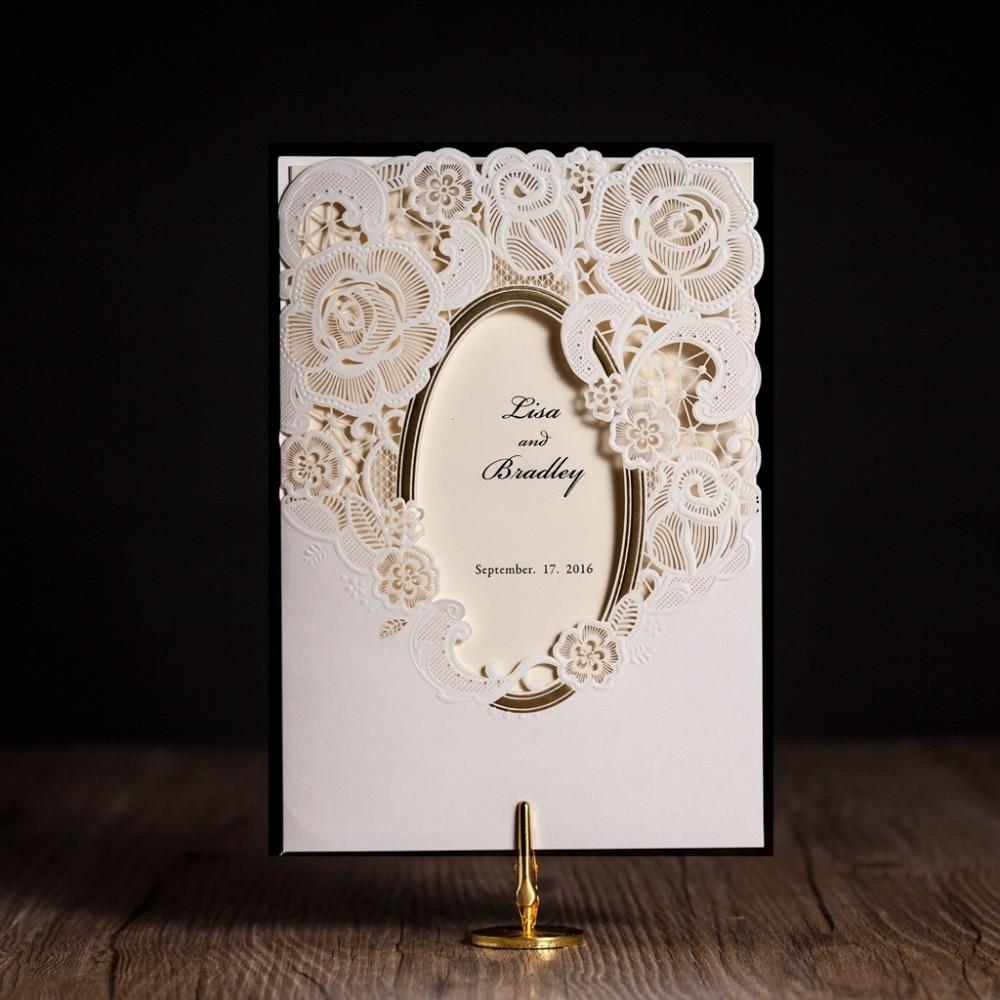 Buy Wedding Invitation Cards Online: Aliexpress.com : Buy CW5185 Mirror Frame Laser Cut Wedding