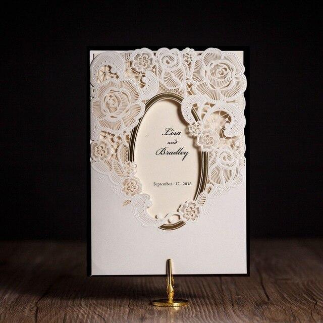 CW5185 mirror frame laser cut wedding invitation free shipping