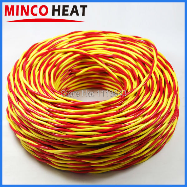 Online Shop 2x1.5mm2 Pure Copper Wire, 2 Pins Red Yellow ...