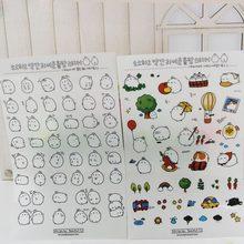 BP 6 Sheets/pack New Korea Creative Cartoon Potato Rabbit Series Kawaii PVC Sticker School Supplies WJ-SMT116