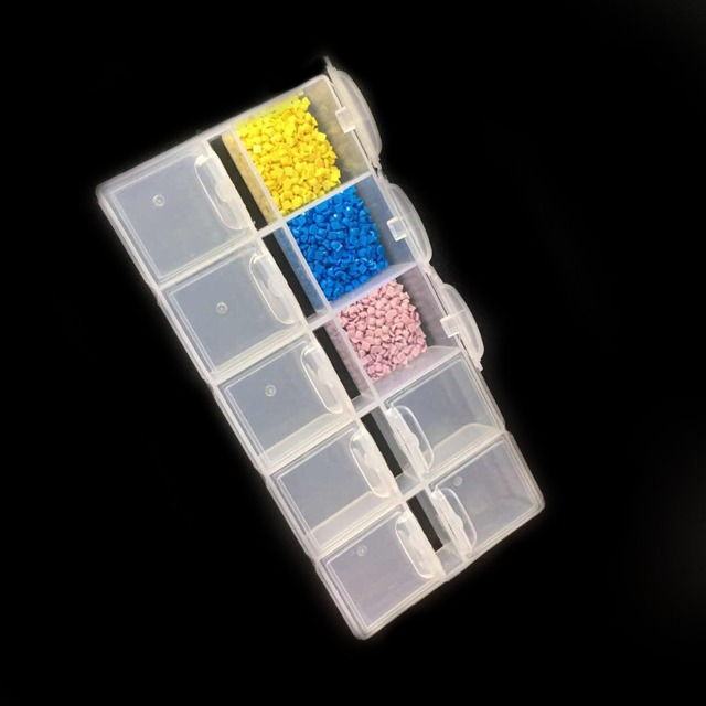 ZOOYA Diamant Schilderen Gereedschap Accessoire Kralen Container Diamant Borduurwerk Steen Opbergdoos voor sieraden Mozaïek Gemak T007