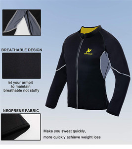 Image 4 - NINGMI Slimming Belt Men Waist Trainer Corset Vest Jacket with Zipper Hot Shirt Neoprene Sauna Weight Loss Body Shaper Tank Tops