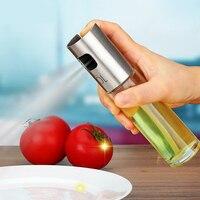 زجاج بخاخ الرش زجاجة زيت الزيتون المقاوم للصدأ الطعام وعاء مانعة للتسرب قطرات النفط التوابل أدوات المطبخ