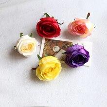 20pcs/lot Artificial flower head Silk rose heads accessories fake for wedding DIY decoration flowers decor