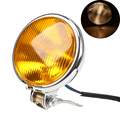 Chrome 12V Motorcycle Retro Headlight Lamp Amber High/Low Beam For Harley Touring Cafe Racer Bobber Custom Motocicleta lights