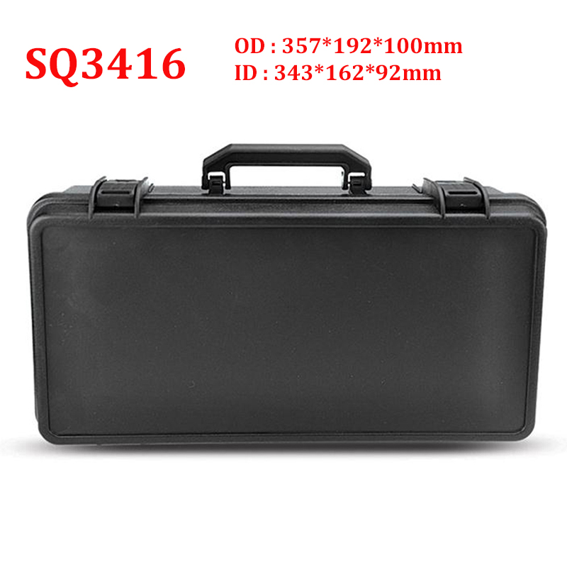 Protective Safety Toolbox Equipment Suitcase Impact Resistant Instrument Plastic Tool Case Shockproof With Sponge