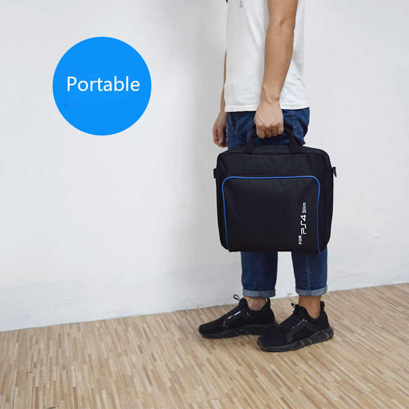 Для PS4/PS4 Pro тонкий игровой Sytem сумка исходного размера для Игровые приставки 4 консоли защиты сумка на плече сумки из натуральной кожи сумка из ткани