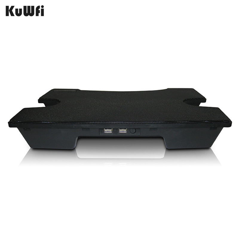 Image 4 - Laptop Cooler Cooling Pad Cooling X Stand for Laptops Notebook PC 14 Inch And Below With 2 USB 2.0 Port Silent Single Fan-in Laptop Cooling Pads from Computer & Office