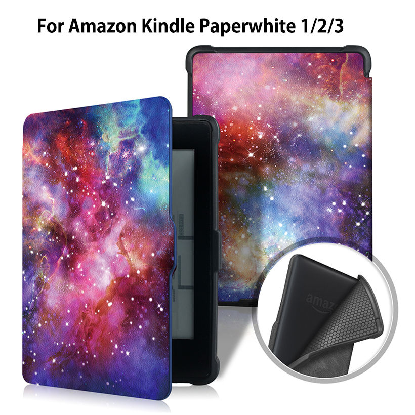 Ultra Slim Case for Amazon Kindle Paperwhite 1 2 3 6 Case Cover for Kindle Paperwhite 6inch E-book Funda Tablet Sleep&Wake mdfundas flower animal pattern cover for amazon kindle paperwhite 1 2 3 case flip stand leather shell for kindle paperwhite 3