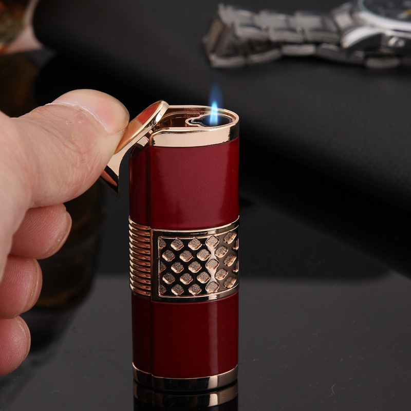 Image 2 - 2019 New Cigar Lighter Pen Torch Turbo Lighter Compact Jet Lighter Gas Windproof All Metal 1300 C Butane No Gas-in Matches from Home & Garden