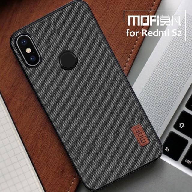 finest selection c95a7 76203 US $8.95 |Xiaomi Redmi S2 Case Mofi Fabric Splice Back Cover Redmi Y2 Case  Silicone Soft Phone Case for Xiaomi Redmi S2 Business Coque -in ...
