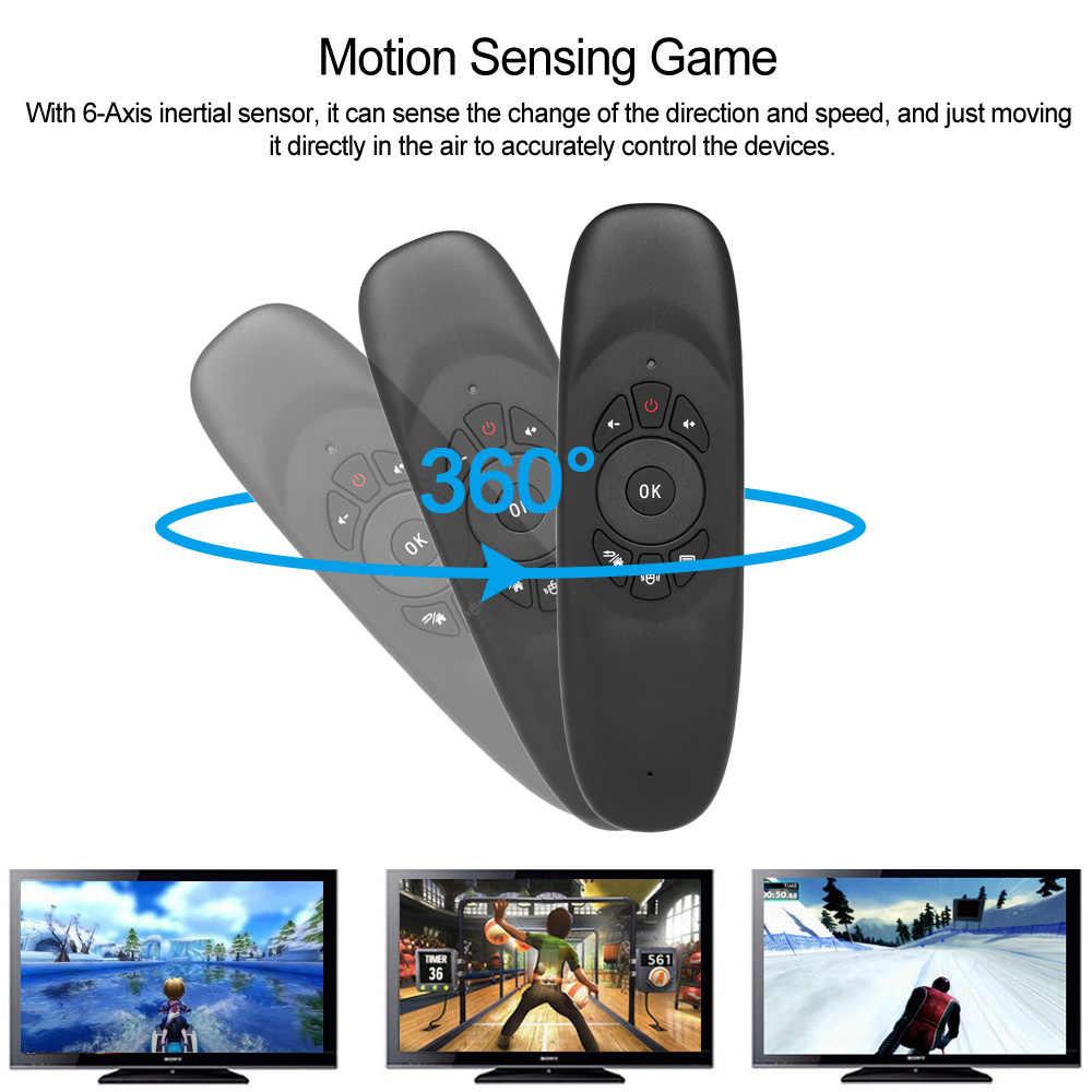 C120 TV Control remoto Universal Air Mouse sin voz recargable 2,4G teclado inalámbrico para Android TV BOX con teclado