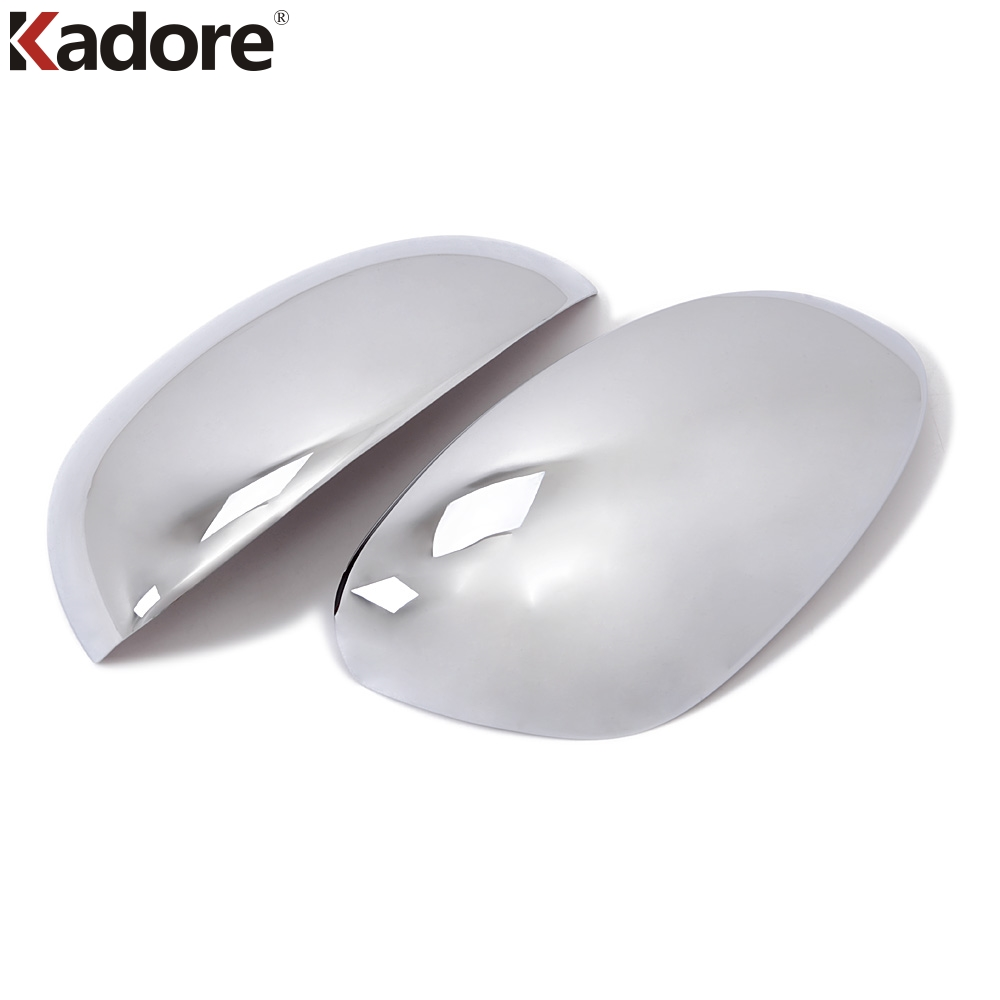 For Nissan Juke 2011 2012 2013 Chrome ABS Rearview Mirror Covers Styling Shiny Rear View Mirrors Caps Trims Car Protector 2pcs