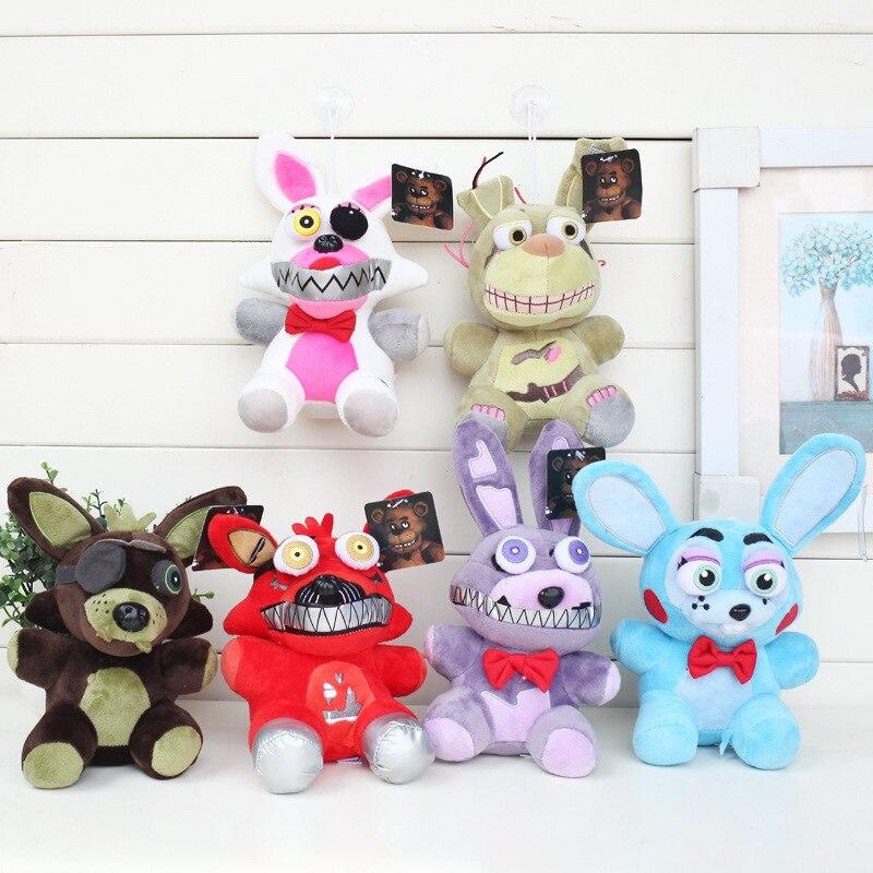 20 см 15 см новые Five nights at Freddys игрушка FNAF Бонни Foxy Freddy Fazbear медведь Duck чучело кукла Игрушечные лошадки для детей ...