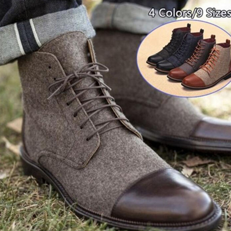Men Shoes Ankle-Boot Autumn Fashion Spring 48 LH-87 Comfortable Big-Size