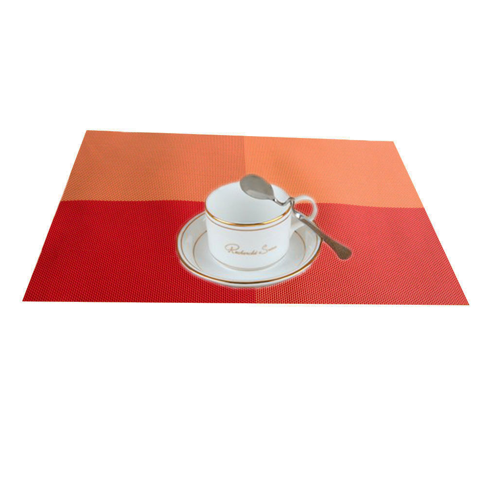 Pvc Placemats Us 2 44 18 Off 1pcs Dining Table Place Mats Pvc Placemats Pad Weave Woven Effect Modern Europe Style Kitchen Tool Tableware Pad Coaster Coffee In
