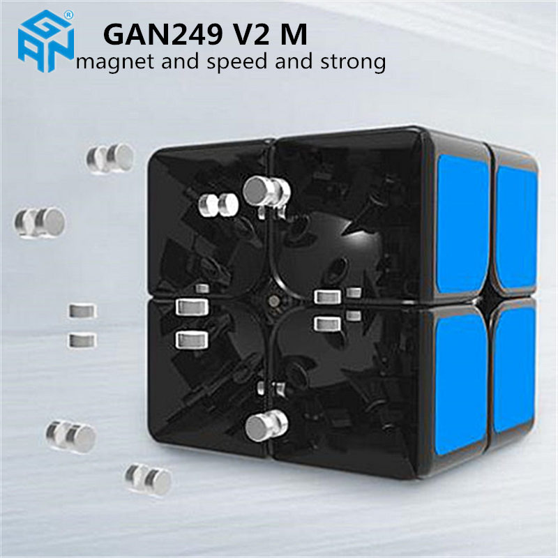 Image 5 - Gan249 2x2 magic speed cube stickerless GAN 249 V2M puzzle pocket Cube colorful gans toys for Children-in Magic Cubes from Toys & Hobbies