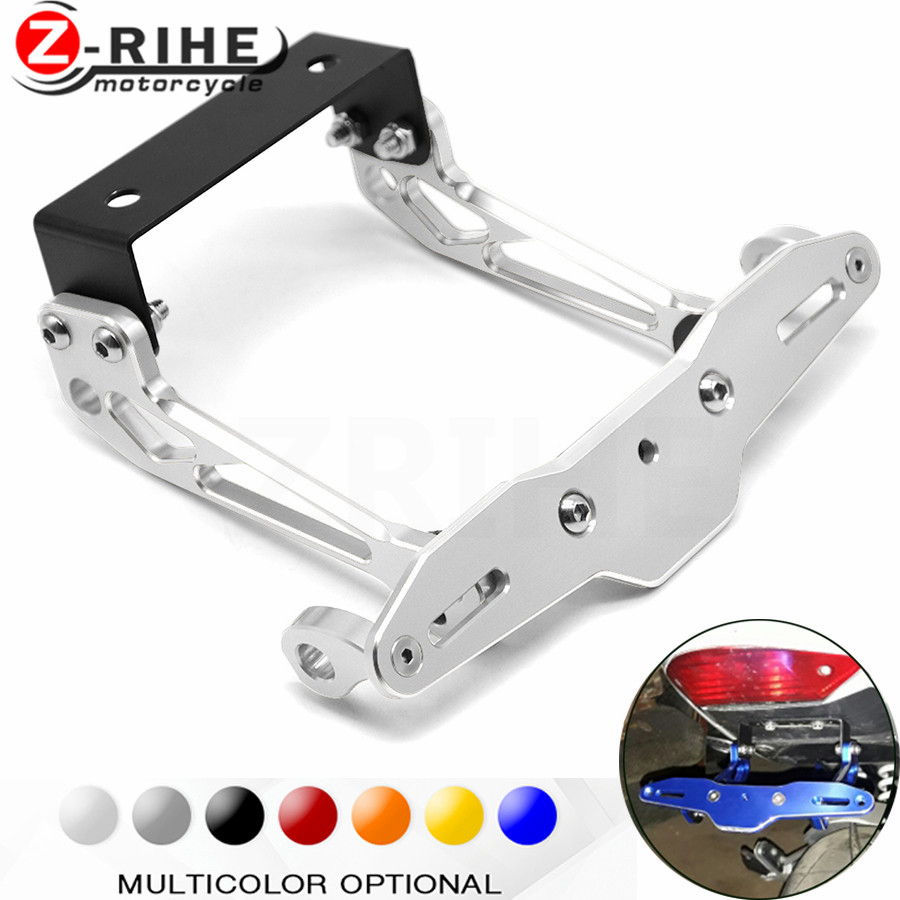 Fender Eliminator motorcycle License Plate Bracket Ho Tidy Tail Universal for Yamaha XT660Z Tenere YFZ 350 YZF-R1 fjr1300 mt 10 motorcycle accessories universal fender eliminator license plate bracket tidy tail for kawasaki z750 r3 z800 r6 mt 07 mt09 mt10