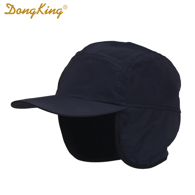 0414468551c DongKing Winter Baseball Cap Keep Warm Earflap Polar Fleece Adult Cap  Water-proof Wind-proof Outdoor Hats Unisex Christmas Gift