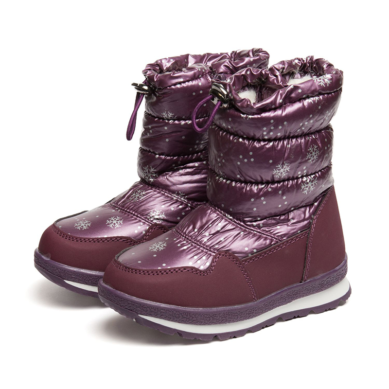 FLAMINGO Winter Anti-slip Orthotic Arch Waterproof Wool Warm High Quality Kids Shoes Size 27-32 Snow Boots for Girl 82M-YZ-1079 fedonas top quality winter ankle boots women platform high heels genuine leather shoes woman warm plush snow motorcycle boots