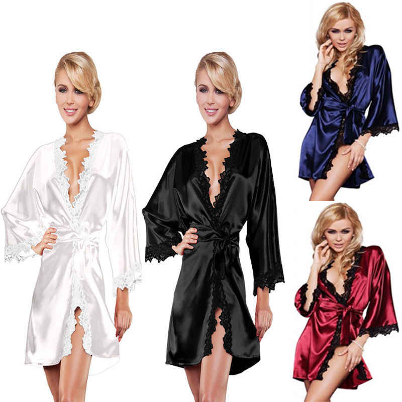 Brand New Babydolls Women Pure Color Sexy Babydoll Long Sleeve Sleepwear Nightwear Lace Robes Sleep Chemises Fashion Hot 2019