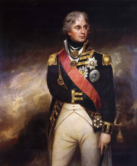 PORTRAIT OIL PAINTING ON CANVAS ADMIRAL NELSON 24X36 RC0L8INR