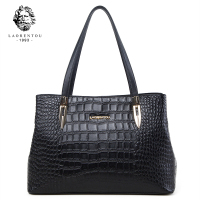 Laorentou Women Bags Handbag Crocodile Top Handle Bags Women Purse Lady Real Leather Tote Bag Valentine