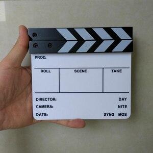 "Image 5 - 스튜디오 카메라 사진 비디오 아크릴 작은 물 막이 판 건조 지우기 감독 영화 영화 클래퍼 보드 슬레이트 (6.3x5.5 ""/16x14 cm)"