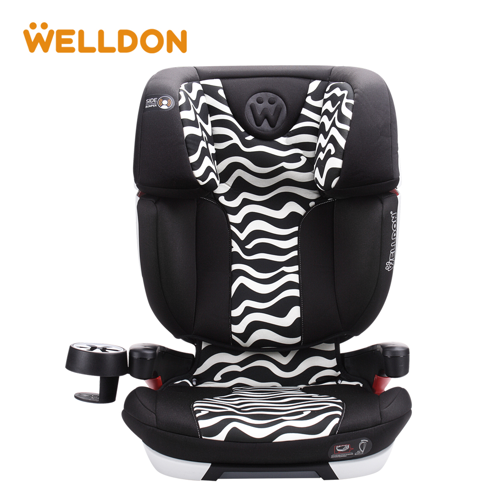 Welldon Baby Car Seat Flame Retardant Fabric Head Protection IOSfix Interface Suitable For Children Aged 3-9 ...