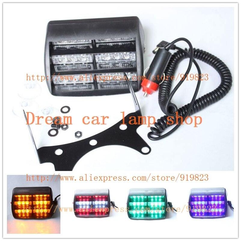 02005 18LED CSPtek 18 LED Lamp red&white Strobe Emergency Flashing Warning Light for Car Truck Vehicle