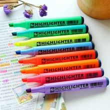 1x Lovely solid marker fluorescent pen marking canetas Learn office learning Kawai Graffiti fluorescent pens Reward Gift