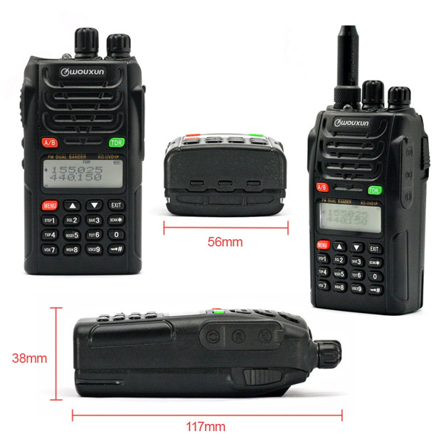 2 sets WOUXUN KG UVD1P Dual Band Two Way Radio with 1700mAh battery FM Transceiver UVD1P Walkie Talkie UHF VHF HAM Radio