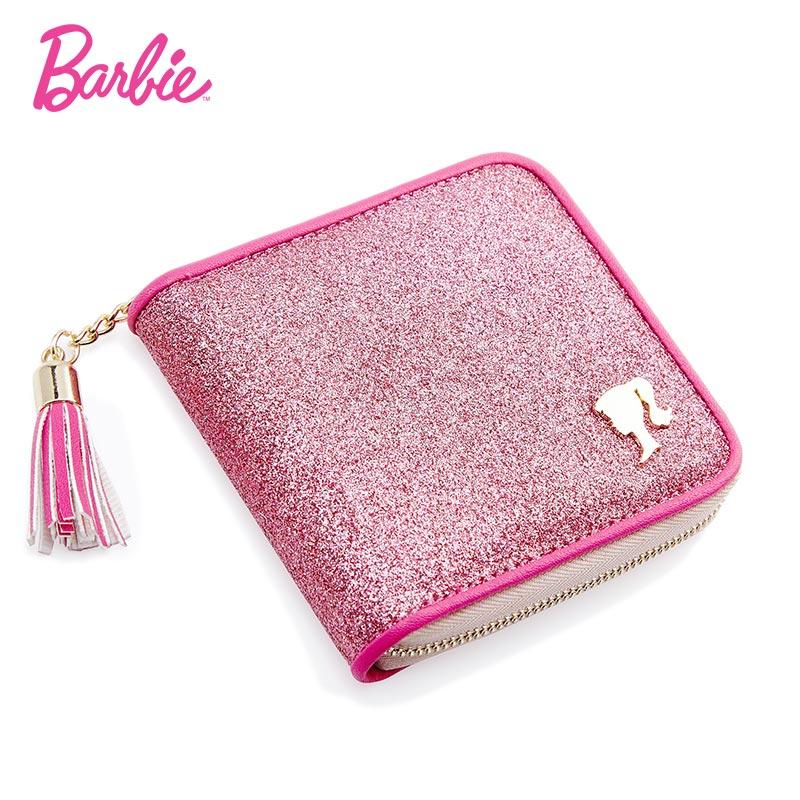 Барби 2018 Новый женский мини кошелек блестящий кожаный с кисточками сладкие карты