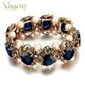 Vogem ouro antigo do vintage dia dos namorados pulseiras bangle para mulheres com imitação de pearl flexível pulseira jóias turca