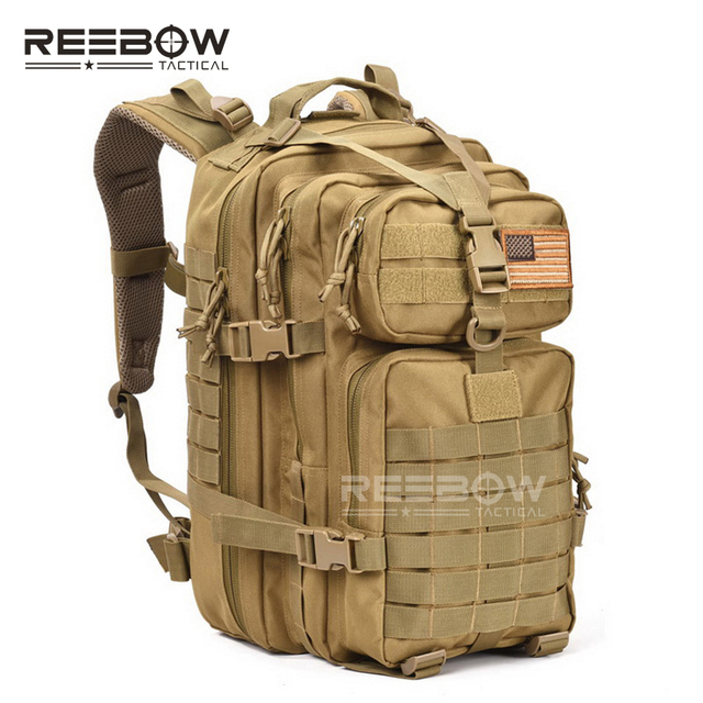 36b5abe50f91 34L Military-Style Molle Tactical Assault Waterproof Bug Out Backpack